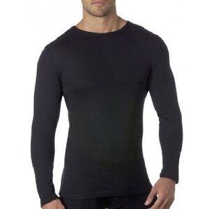 Merino-Wool-Mens-Long-Sleeve-T-Shirt-Quality-Thermal-Wear-Size-S-M-L-XL