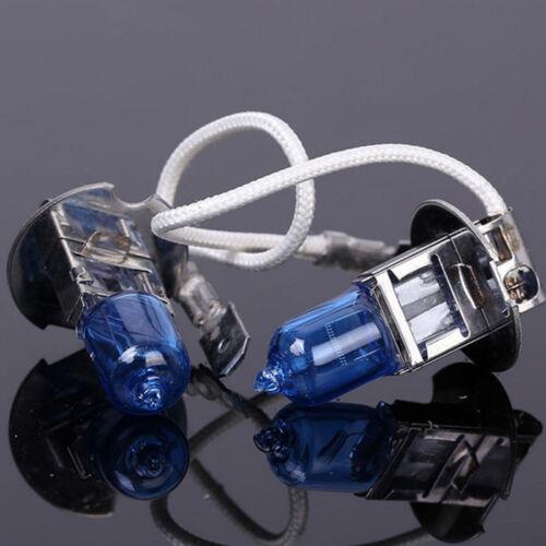 2X Car H3 12V 6000K 55W Super Bright White Halogen Head Light Lamp Bulbs Auto