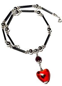 "14/"" Silver Choker Necklace Pendant Tibetan Style Bead Retro Boho Artisan"