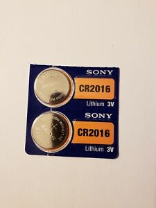 2-New-Sony-Lithium-Battery-3V-cr2016-cr-2016-Fast-Shipping-EX-2027-AA