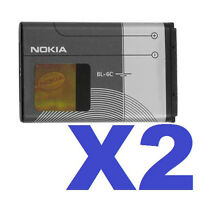 2 FOR 1 OEM NOKIA BL-6C Battery for 2115i 2116i 2125i 2126i 2128i 2865i 3155i