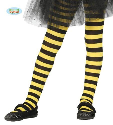 17217 GUIRCA Calze righe gialle nere ape insetti carnevale bambina mod