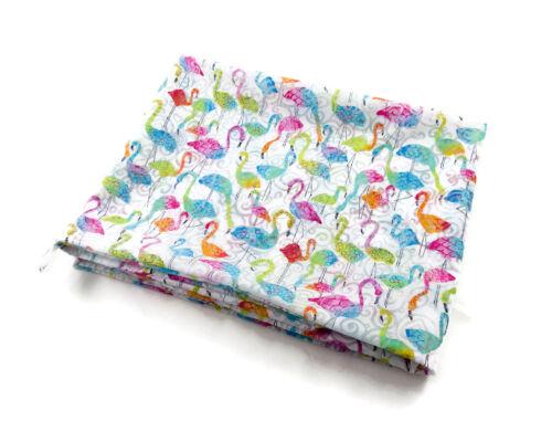 Damen-Rundschal Loop Flamingo bunt-weiß ca 25 cm x 140 cm