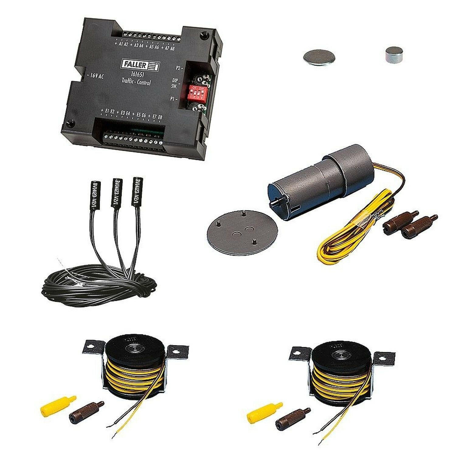 Faller 161622–Coche System Basic Set Components