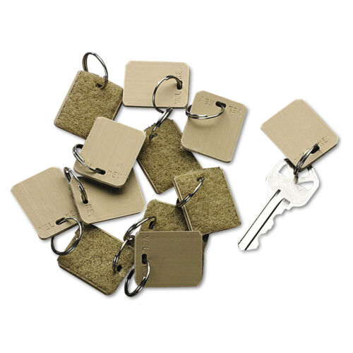 Extra Blank Velcro Tags Velcro Security-Backed 1 1//8 x 1 Beige 12//Pack 04985