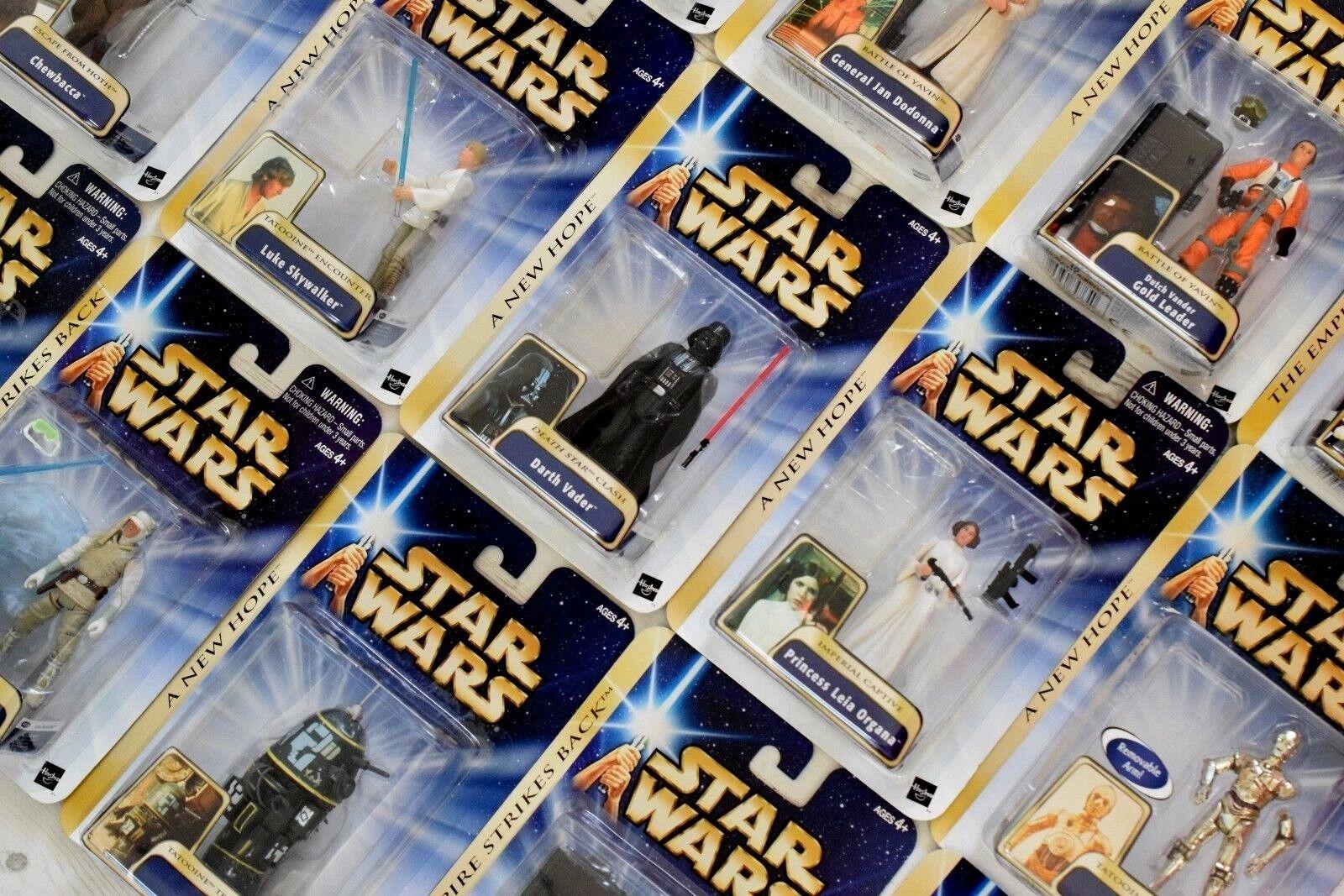 Star Wars Saga 2004 (gold Striscia) Cardato Personaggi (a) - Tutti Moc - Vedi