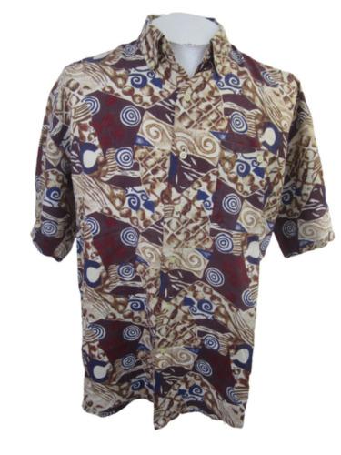 Robert Stock vintage 1990s Men Hawaiian ALOHA shir