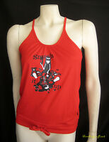 Emily The Strange Red Smash It Up Records Cotton Tank Top T-shirt Drawstring