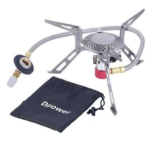 Dpower Mini Portable Folding Camping Gas-powered Stove with Piezo Ignition DE