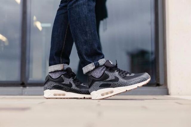 Size 8 - Nike Air Max 90 Premium Low Black for sale online   eBay