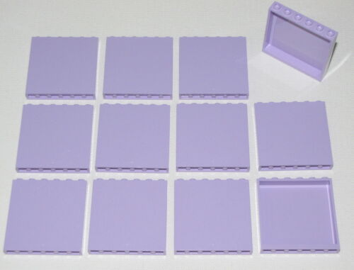 LEGO LOT OF 12 NEW LAVENDER 1 X 6 X 5 PANELS WALLS BLOCKS PARTS