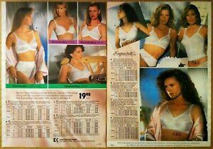 1991-Vintage-PAPER-PRINT-AD-2-pg-longline-bra-satiny-briefs-lingerie-underwear