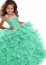 Flower Girl Dress Kids Formal Pageant Ball Party Prom Birthday Gown 3Colors
