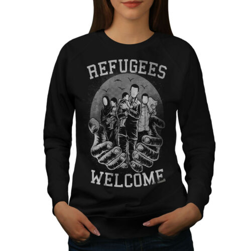 I rifugiati Benvenuto Felpa donna nuovawellcoda
