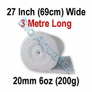 3 mètres - 3M dacron Aquarium étang filtre médias Floss LAINE OUATE - 20mm - 6oz-afficher le titre d`origine Kt255pfa-07193815-425941499