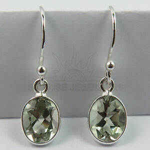 Natural-GREEN-AMETHYST-Gems-Pretty-Earrings-925-Solid-Sterling-Silver-FINE-EDH