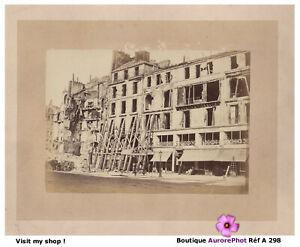 RUINES-DE-PARIS-COMMUNE-INSURRECTION-RUE-ROYALE-TIRAGE-ALBUMINE-1871-A298
