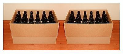 BEER BOTTLES 48 BRAND NEW 12oz AMBER GLASS LONGNECKS FOR HOME BREWING 2 CASES