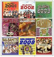9 Different CD's *  SALSA HITS *  2001 - 2009  * New & Factory Sealed, 118 Songs