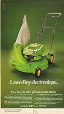 Publicité Advertising 1973  Lawn-Boy électronique tondeuse gazon pelouse