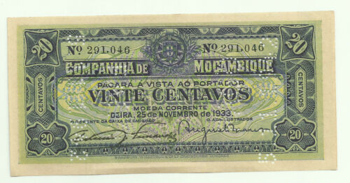 MOZAMBIQUE 20 CENTAVOS 25//11//1933 R-29 UNC