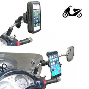 supporto staffa scooter piaggio honda yamaha per smartphone samsung apple lg ebay. Black Bedroom Furniture Sets. Home Design Ideas