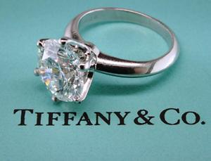 nuovi stili 5aed1 fcbe3 Dettagli su Tiffany & Co Placcato Rotondo Diamante Solitario Anello ~  2.01ct F Vvs2 GIA