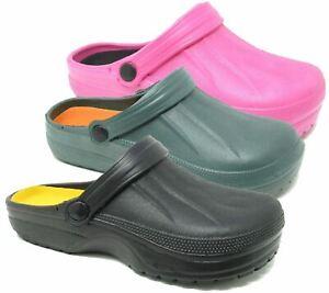 Womens-Clogs-Mules-Slipper-Nursing-Garden-Beach-Sandals-Hospital-Rubber-Shoes
