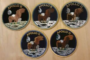 Vintage-Apollo-11-Patch-Lot-All-were-Exhibited-at-The-American-Space-Museum