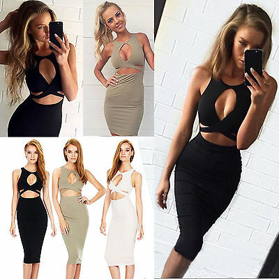 Womens Ladies Bodycon Evening Cocktail Formal Party Lace Mini Dress Size 8-14 UK