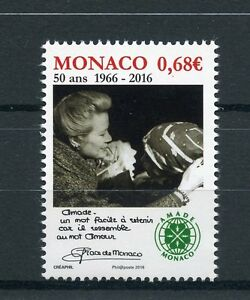 Monaco 2016 MNH AMADE Monaco 50th Anniv 1v Set Princess Grace Stamps