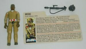 1983-GI-Joe-Army-Medic-Doc-Dr-Doctor-v1-Figure-w-File-Card-Not-Complete-READ