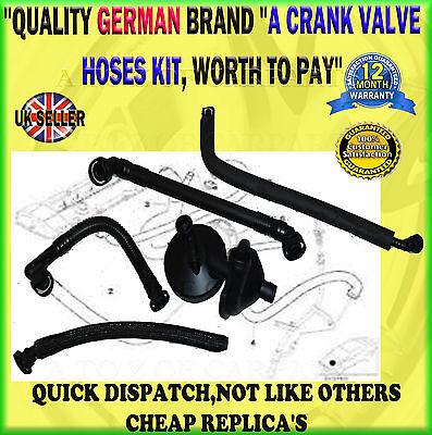 FOR BMW 3// 5// 7 SERIES E46//39//60//61//65//66//38 CRANK CCV CASE VENT VALVE HOSES KIT