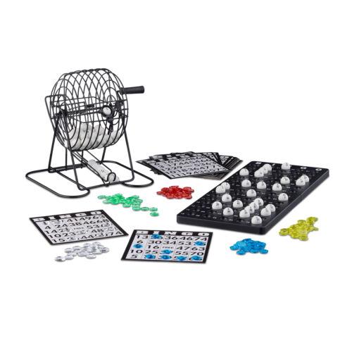 Bingo Spiel Metalltrommel Tombola Glücksspiel Lotto Set Reisespiel Bingomühle