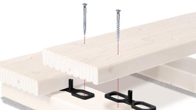 4oder7 mm Terrassendielen-Abstandshalter+Terrassenschrauben C1 rostfrei 5x60 ab: