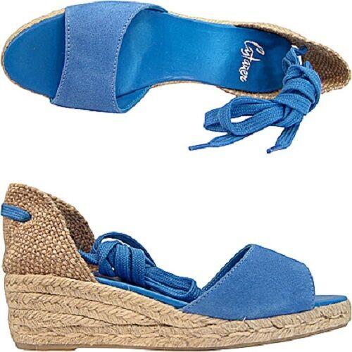 Castaner Caty taglia originali espadrillas sandali azzurro taglia Caty 39 sandals suede 7887b6