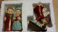 2 Ornaments Nativity Angel Jesus Mary Joseph More Ornaments In Our Store