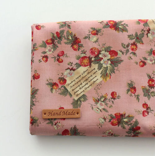 """Cotton Fabric strawberry Vintage by the Yards 44/"""" Cozy strawberry Vintage"""