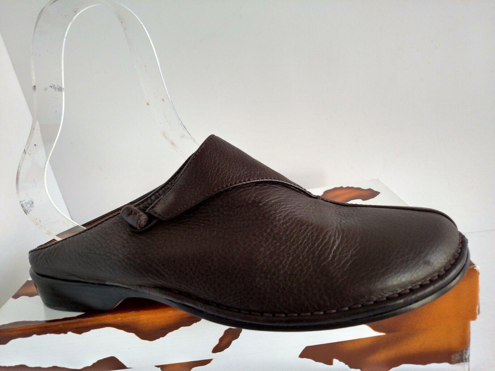 Donald J Pliner Womens Chrys Expresso Buck Skin Slide Mule 1  Heel, SZ 6