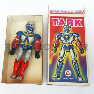 Jouets vintage - Robot Zork Tekkaman Ko Al-es moulé sous pression avec boîte, 1980, Hong Kong