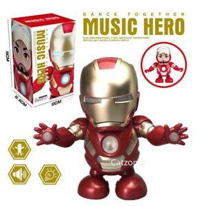 Dance-Iron-Toy-LED-Man-Action-Figure-Avengers-Iron-Man-Hero-Flashlight-Sound
