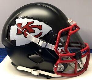 0c5fba809d8 Kansas City Chiefs Custom Full Size Authentic Riddell Speed Football ...