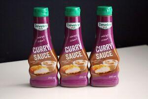 3-Flaschen-Develey-Curry-Sauce-250ml-Original-McDonalds-Mc-Donalds-BBQ-Grillen