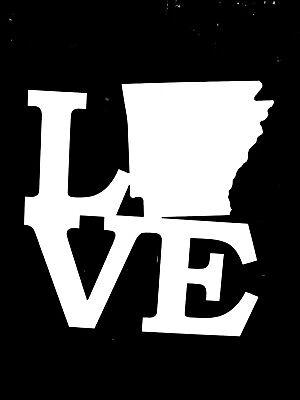 Arkansas State Shaped Flag Sticker Decal Vinyl AR