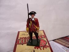 BRITAINS SOLDIERS REDCOATS 47035 BRIT 35th REG OF FOOT OFFICER 1754 GLOSS METAL