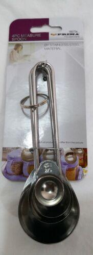 Measuring Spoon Set Of 4 Stainless Steel Cooking Baking Teaspoon Tablespoon