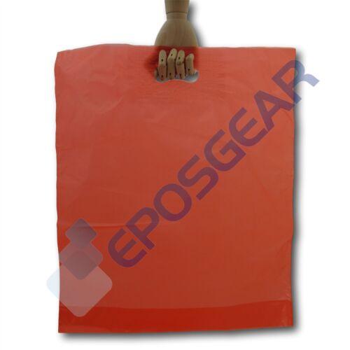 """100 15"""" X 18"""" X 3"""" rojo fuerte del mercado de Regalo Parche Mango Plástico Bolsas"""
