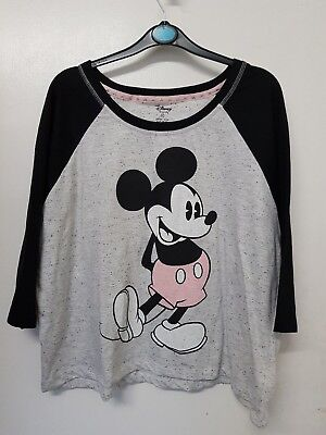 Damenunterwäsche Kleidung & Accessoires Neu Grau Rosa Design Mickey Maus Pyjama Top Pyjama Damen Disney Primark Curing Cough And Facilitating Expectoration And Relieving Hoarseness