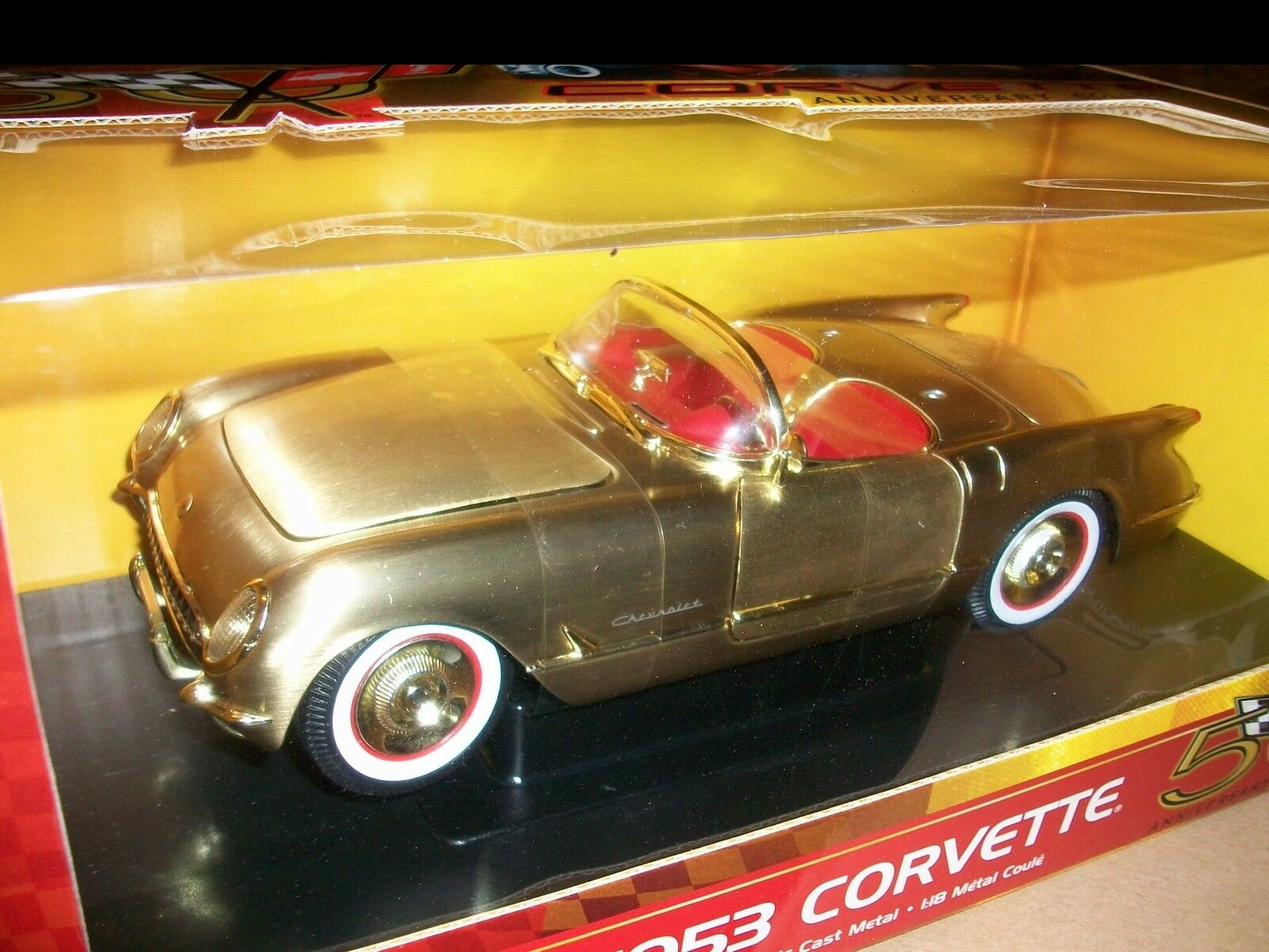 1953 1953 1953 Corvette Brushed gold 1 18 Ertl American Muscle 33449 6f15a5