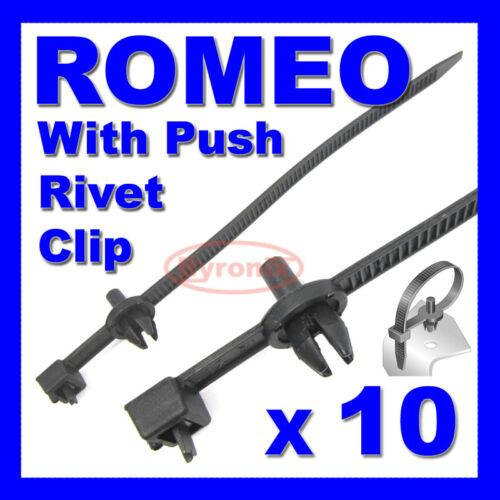ALFA Romeo liens de câble zip tie wrap push rivet clip câblage associé harnais libération